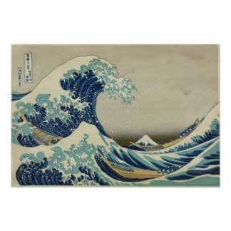 The Great Wave Katsushika 36 Views of Mount Fuji Poster