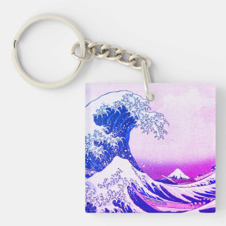 The Great Wave Keychain
