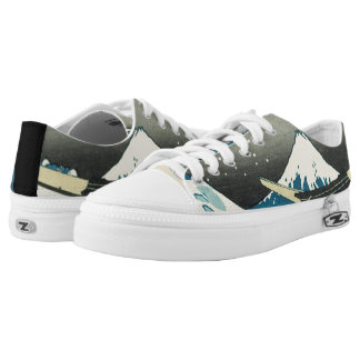 The Great Wave Low-Top Sneakers