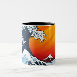 THE GREAT WAVE mug by nicola