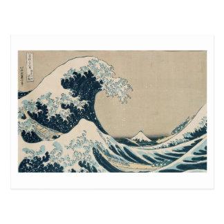 The Great Wave of Kanagawa, Views of Mt. Fuji Postcard