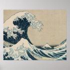 The Great Wave of Kanagawa, Views of Mt. Fuji Poster