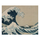 The Great Wave of Kanagawa, Views of Mt. Fuji Poster
