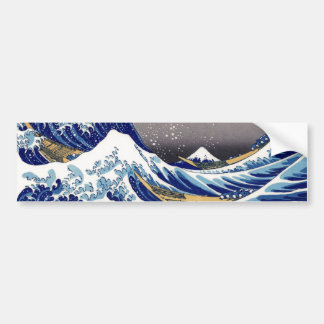 The Great Wave off Kanagawa - 神奈川沖浪裏 Bumper Sticker