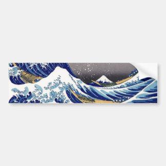 The Great Wave off Kanagawa - 神奈川沖浪裏 Bumper Sticker
