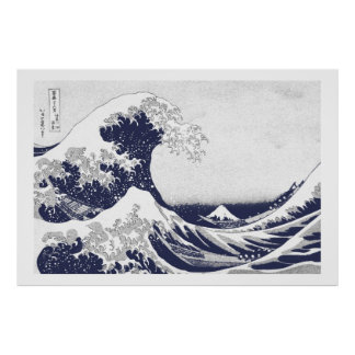The Great Wave off Kanagawa (神奈川沖浪裏) Poster