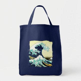 The Great Wave off Kanagawa (神奈川沖浪裏) Tote Bag