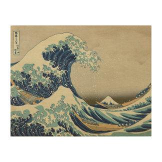The Great Wave off Kanagawa (神奈川沖浪裏) Wood Print