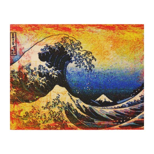 The Great Wave off Kanagawa (神奈川沖浪裏) Wood Print