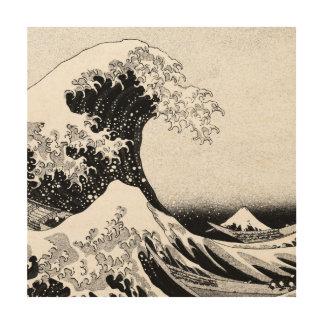 The Great Wave off Kanagawa (神奈川沖浪裏) Wood Wall Art