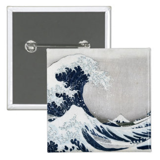 The Great Wave off Kanagawa 2 Inch Square Button
