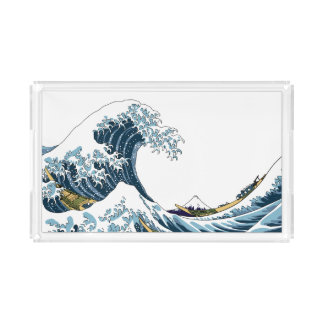 The Great Wave off Kanagawa Acrylic Tray