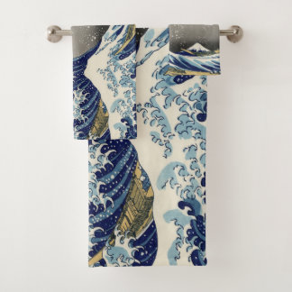 The Great Wave Off Kanagawa Bath Towel Set