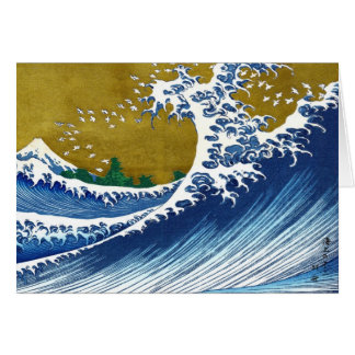 The great wave off Kanagawa by Katsushika Hokusai Card