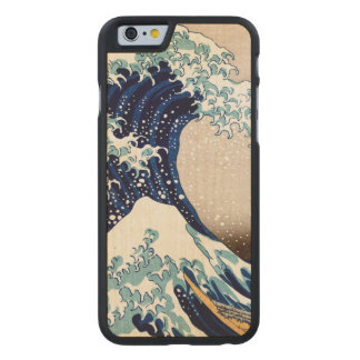 The Great Wave off Kanagawa Carved Maple iPhone 6 Case