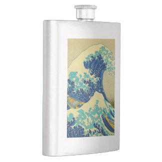 """the great wave off kanagawa"" hip flask"