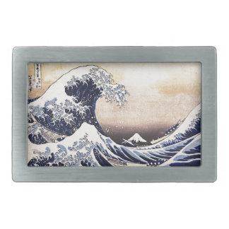 The Great Wave Off Kanagawa Hokusai Japanese Art Belt Buckle