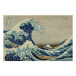 The Great Wave off Kanagawa (Hokusai) Poster