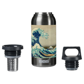 The Great Wave off Kanagawa Insulated Water Bottle