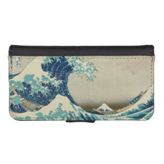 The Great Wave off Kanagawa iPhone SE/5/5s Wallet Case