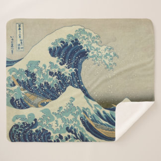 The Great Wave Off Kanagawa Kanagawa-oki Nami Ura Sherpa Blanket
