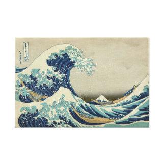 The Great Wave Off Kanagawa - Katsushika Hokusai Canvas Print