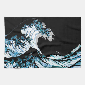 The Great Wave off Kanagawa Kitchen Towel