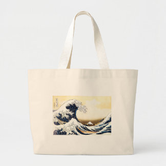 The Great Wave off Kanagawa Large Tote Bag