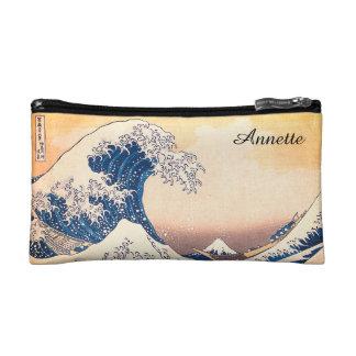 The Great Wave Off Kanagawa Makeup Bag