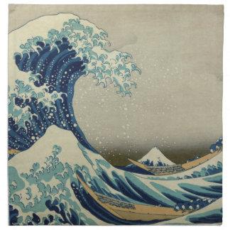The Great Wave off Kanagawa Printed Napkins