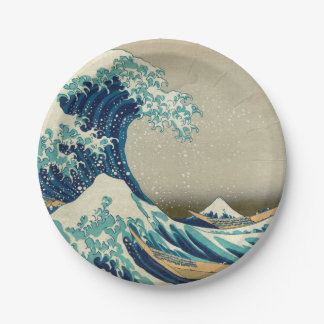 The Great Wave off Kanagawa Paper Plate
