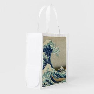 The Great Wave off Kanagawa Reusable Grocery Bag