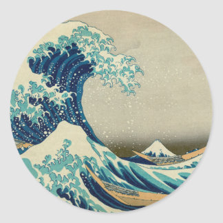 The Great Wave off Kanagawa Round Sticker