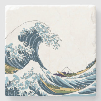 The Great Wave off Kanagawa Stone Coaster