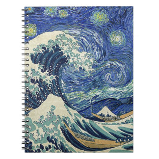 The Great Wave Off Kanagawa - The Starry Night Notebook