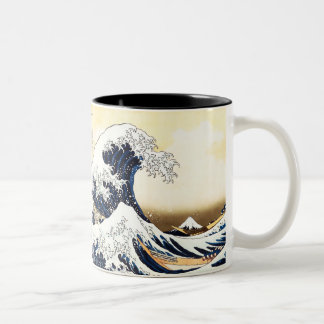 The Great Wave off Kanagawa Two-Tone Coffee Mug