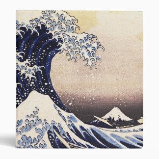 The Great Wave Off Kanagawa Vintage Japanese Art Vinyl Binder
