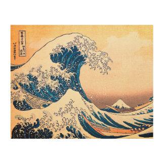 The Great Wave Off Kanagawa Wood Print