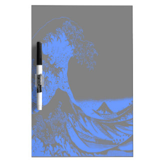 The Great Wave Seafoam Blue & Gray Dry Erase Boards