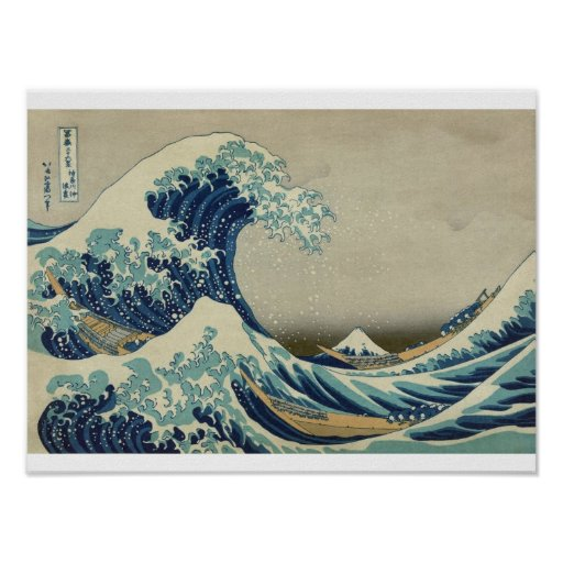 The Great Wave/ Tsunami Japanese Poster