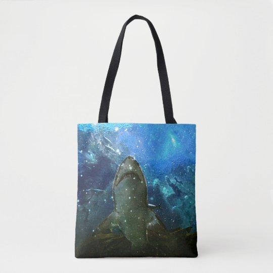 The Great White Shark Marine Lava Lamp Tote Bag