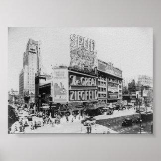 The Great Ziegfeld Astor Theatre Broadway New York Poster