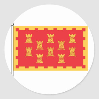 The Greater Mancunian Flag Classic Round Sticker
