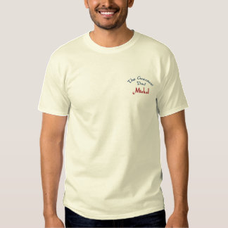 The Greatest Dad, Mickel-Sweatshirt Embroidered T-Shirt