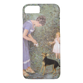 The Greedy Small Dog by Guido Marzulli, Realism iPhone 7 Case