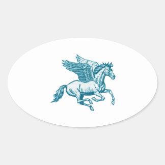 The Greek Myth Oval Sticker