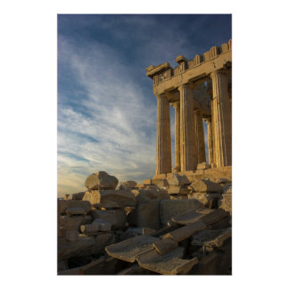 The Greek Parthenon from the South End Poster