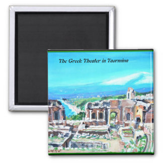 The Greek Theater in Taormina -  Magnet