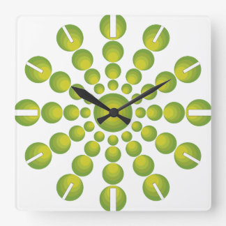 The Green 70's year styling Square Wall Clock