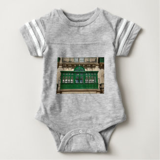 The green balcony baby bodysuit